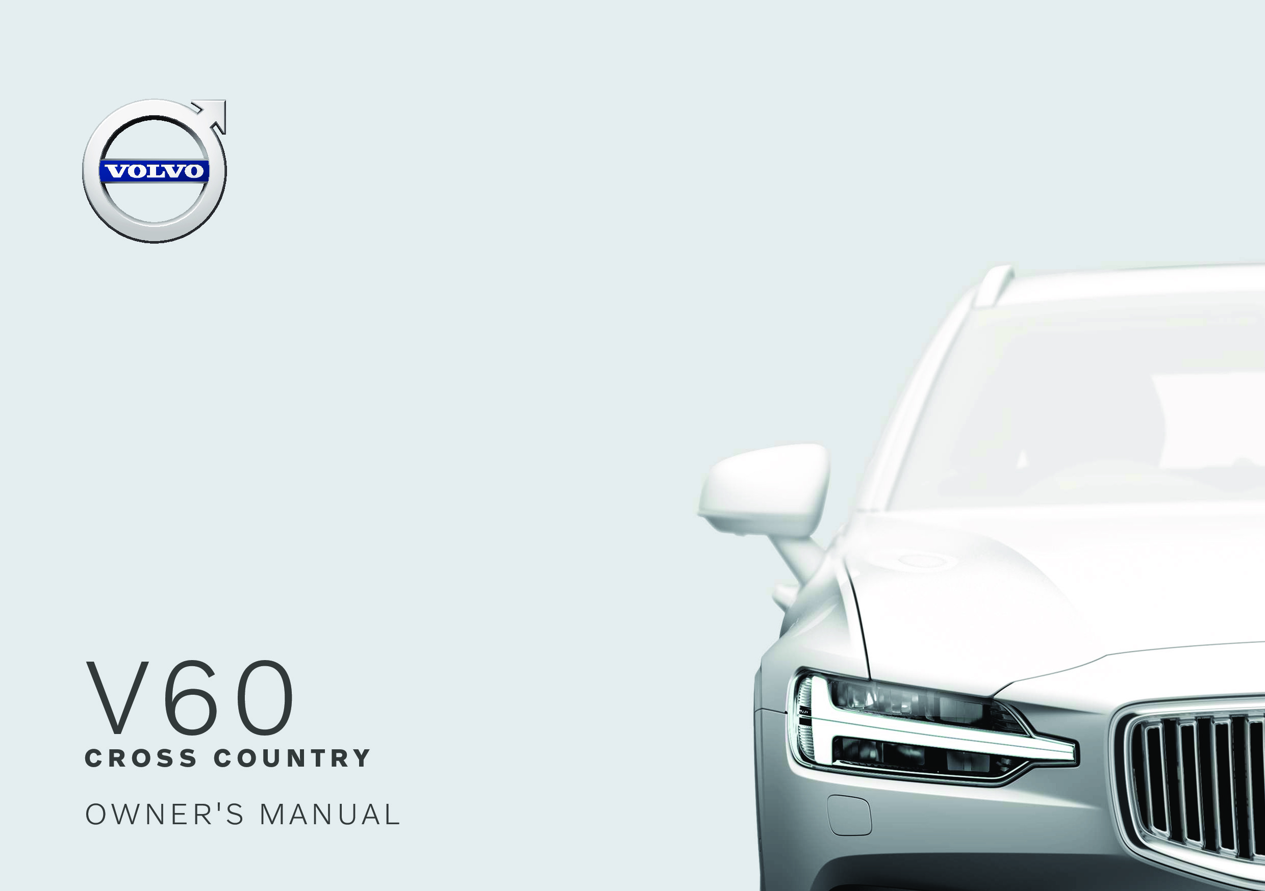 2020 Volvo V60 Cross Country owners manual